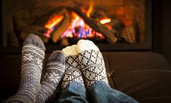 piedi in inverno