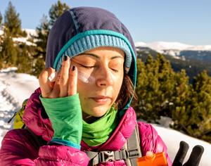 crema solare in montagna